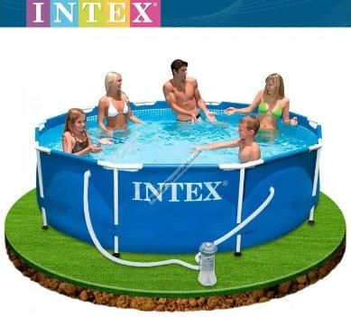 Piscine 28200 piscina intex frame cm 305x76h senza pompa for Intex piscine catalogo