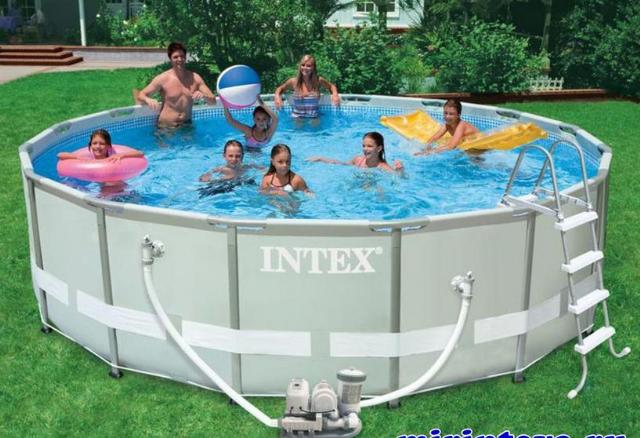 Piscine 28326 piscina intex ultra frame cm 488x122h con for Intex piscine catalogo