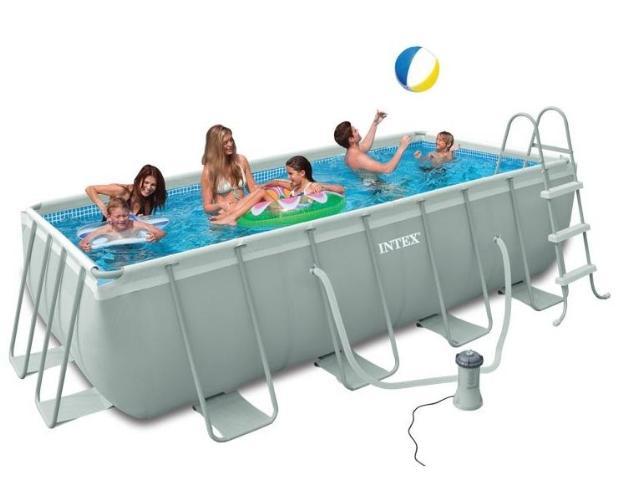 Piscine 28350 piscina ultra frame rettangolare cm - Scaletta piscina intex ...