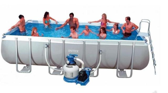 Piscine intex piscina rettangolare cm 549x274x132 cm con for Intex piscine catalogo